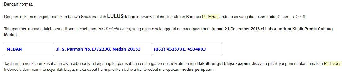 Contoh Soal Psikotes di PT Evans Indonesia