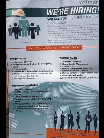 Lowongan Kerja Wilmar Group Indonesia Di Medan Loker Medan Desember 2019
