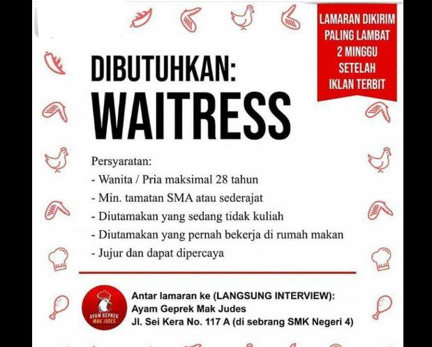 Lowongan Kerja Ayam Geprek Mak Judes Lulusan Sma Di Medan 2019