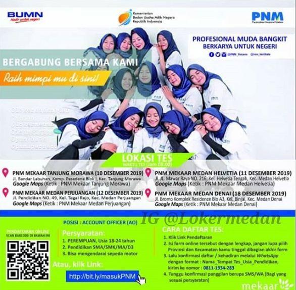 Lowongan Kerja Medan BUMN Desember 2019 di PNM