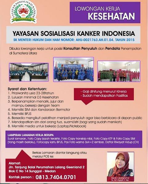 Lowongan Kerja Medan Desember 2019 Yayasan Sosialisasi ...