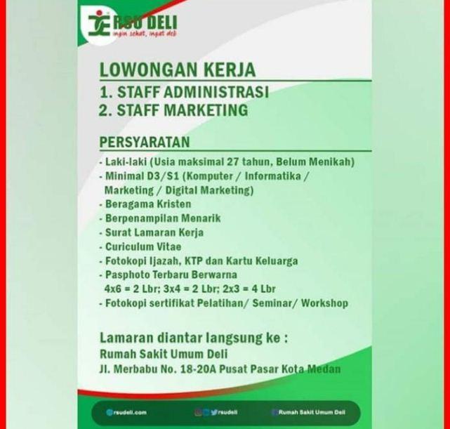 Lowongan Kerja Market Medan Desember 2019 Jurusan Informatika Di Rsu Deli