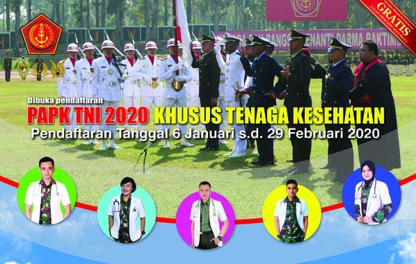 Lowongan Kerja Medan Januari 2020 di PAPK TNI / Tentara, Khusus Tenaga Kesehatan