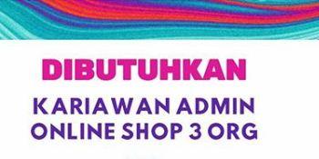 Lowongan Kerja Admin Online Shop Di Medan 2020 Terbaru