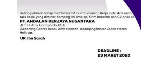 Lowongan Kerja Medan 2020 PT Andalan Berjaya Nusantara