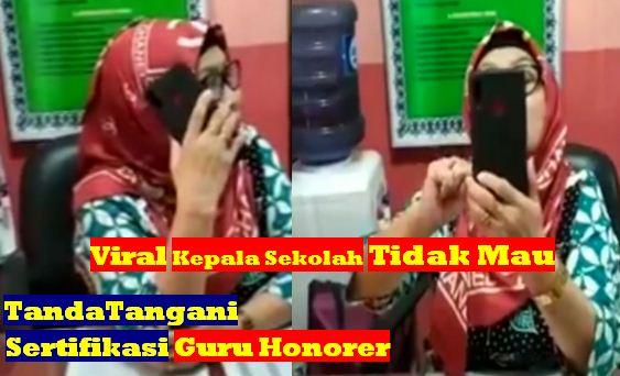 Video Viral Kepala Sekolah di Medan Tidak Mau tandatangani Sertifikasi Guru