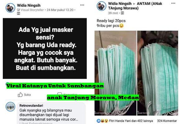 Viral Anak Tanjung Morawa Jual Masker Katanya Untuk Sumbangan Rupanya dijual Harga Tinggi, Medan