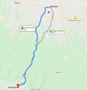 Jarak Kecamatan Berastagi Dengan Kota Medan
