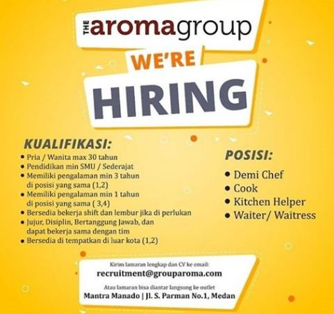 Lowongan Kerja di Aroma Group