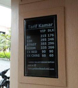 tarif Golden Eleven Hotel Medan