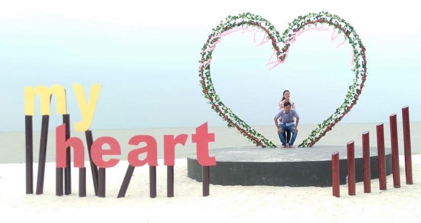 gambar pantai romantis perbaungan