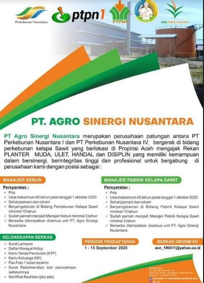 Lowongan Kerja Bumn Medan September 2020 Terbaru Loker Medan Desember 2019