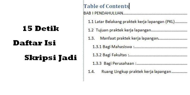 Cara Membuat Daftar Isi Otomatis di Microsoft Word 2007 dan 2010