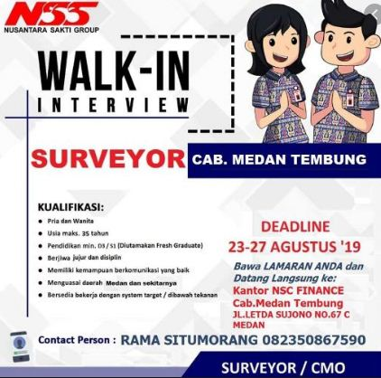 contoh informasi pekerjaan PT Nusantara Sakti Group