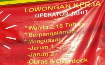 Contoh Surat Lamaran Kerja di Pabrik Jahit Sebagai Operator