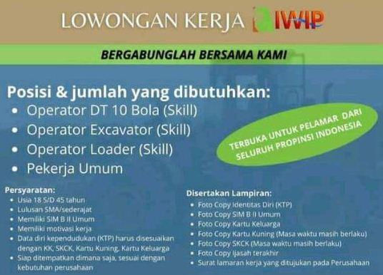 Contoh Surat Lamaran Kerja PT IWIP Yang Benar dan Syarat Melamarnya